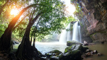 Cave In Heo Suwat Waterfall In Khao Yai National Park In Thailand