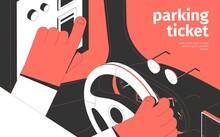 Parking Ticket Isometric Background