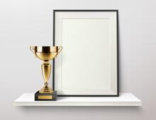 Golden Cup Frame Composition