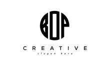 Letter BOP Creative Circle Logo Design Vector