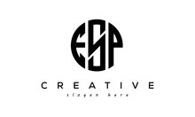 Letters ESP Creative Circle Logo Design Vector