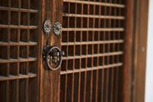 Old Wooden Door With Handle