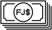 フィジー・ドル 紙幣 ラインアイコン