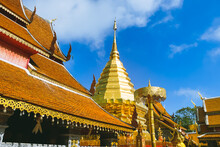The World Famous Pagoda In Chiang Mai Phra That Doi Suthep.