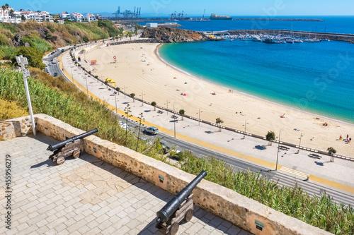 Obraz na plátně Sines waterfront. Portugal