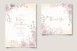 Beautiful flower wedding invitation card template