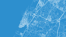Urban Vector City Map Of Ashdod, Israel, Middle East