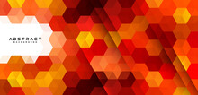 Abstract Hexagons Geometric Shapes Vector Background. Modern Colorful Geometric Pattern Creative Design. Suit For Poster, Cover, Banner, Flyer, Brochure, Presentation, Website. Vector Illustration