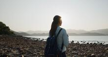 Woman Go Sharp Island In Hong Kong