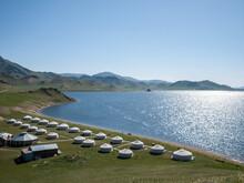 Maikhan Tolgoi Ger Camp On The Shore Of Terkhiin Tsagaan Nuur Or Great White Lake
