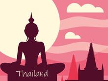 Thailand Buddha And Temple