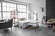 Leinwandbild Motiv Interior of stylish room with comfortable bed