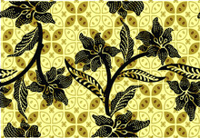 Indonesian Batik Motifs With Very Distinctive, Exclusive Plant Patterns. Vector EPS 10