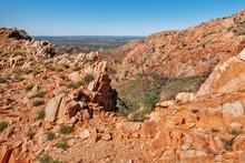Rocky, Desert Landscape Around Alice Springs Area