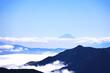 Leinwandbild Motiv 富山県から見える富士山
