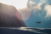 Ski Drone Neige Montagne