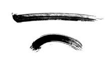 墨と筆で書いた和風の素材
