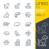 Lineo Editable Stroke - Pet and Veterinary line icons