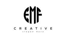 Letter EMF Creative Circle Logo Design Vector