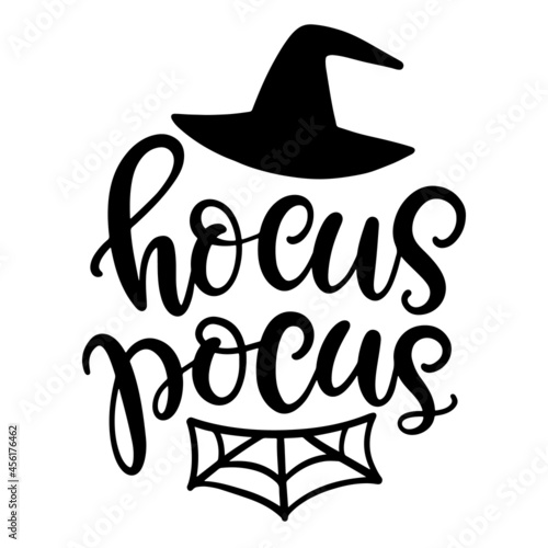 Carta da parati Hocus Pocus Halloween Party Poster with Handwritten Ink Lettering