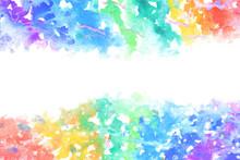 空 雲 虹 水彩 ベクター 背景