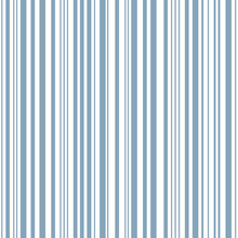 Delft Blue Barcode Stripes. Seamless Vector Pattern Background. Irregular Linear Geometric Backdrop. Parallel Vertical Lines. Sophisticated Repeat Design For Hospitalilty, Packaging. All Over Print