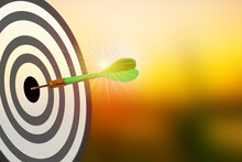 Realistic Dart Simulation Concept Is The Business Goal Of Opportunity. And The Dartboard Is Planning, So Both Present The Challenge Of Marketing A Business As An Idea.