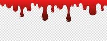 Drip Blood. Ink Paint Splatter Halloween Concept. Bloody Concept