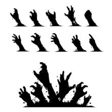 Zombie Hands Vector Set
