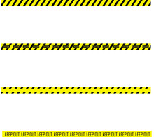 Caution Keep Out Ribbon  Vector Icon Sign Construction