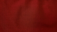Red Fabric Background. Close Up Texture Of Red Fabric Or Jersey Pattern Use As Banner And Background.