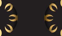 Black Card With Gold Mandala Ornament