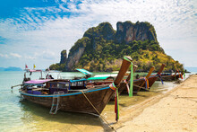 Boat At Koh Phak Bia Island