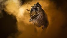 Ekrixinatosaurus Epitaph Dinosaur On Smoke Background