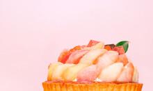 Fresh Fruits Peach Tart Cake
