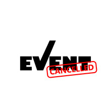 Event Cancelled Sign Isolated On White Background