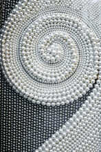 Pearl Abstract Background With Circles