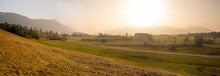 Rural Morning Scenery Near Ohlstadt, Upper Bavarian Landscape