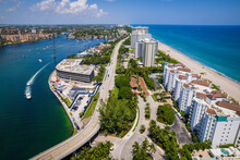 Aerial Drone Of Lake Boca Raton Florida