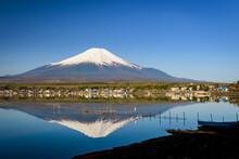 Fishing Tool On Lake Yamanaka With Mount Fuji