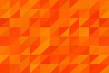 Abstract Geometric Background With Orange And Red Triangles