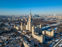 View Of Moscow State University Moscow, Winter 2021