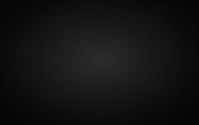 Dark Widescreen Background With Simple Black Circles. Modern Black Geometric Design. Simple Vector Illustration