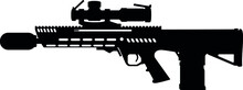 New Generation Squad Weapon Beretta General Dynamics RM277 AR R Machine Gun Assault Rifle, Automatic Rifle Weapon System Army M4 Carbine And M249 United States Armed Forces And USA United States Army