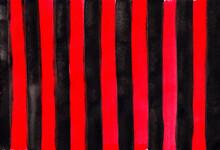 Black Red Striped Background. Red Stripes Vertical On Black Background Geometric Grunge Background