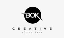 BOK Creative Circle Letters Logo Design Victor
