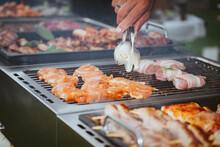 Grillen / Barbecue Hochzeitsessen