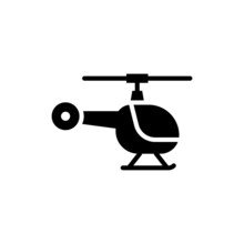 Helicopter Vector Solid Icon Style Illustration. Eps 10 File