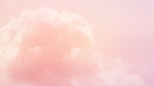 Soft Blurred Cloudscape With Pastel Gradient Color, Natural Abstract Background