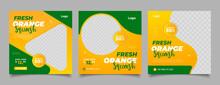 Orange Juice Drink Menu Template For Restaurant Promotion